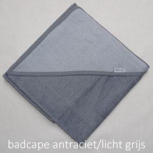 badcape antraciet licht grijs