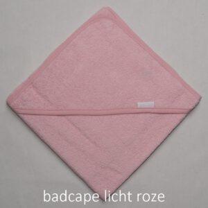 badcape licht roze
