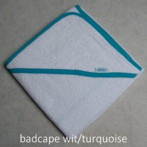 badcape wit turquoise