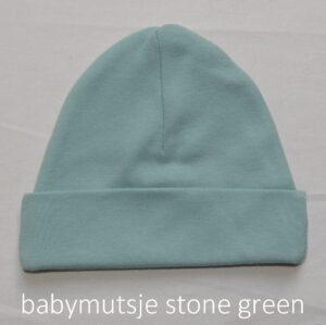 babymutsje stone green