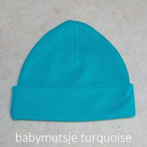 babymutsje turquoise