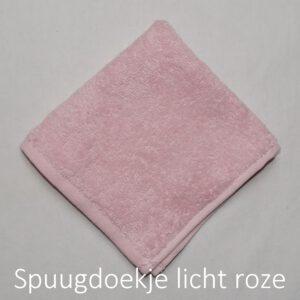 spuugdoek licht roze