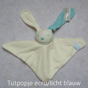 tutpopje ecru/licht blauw