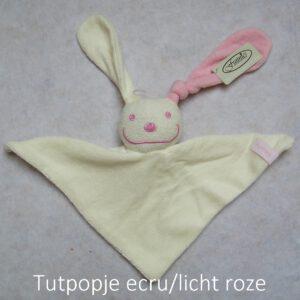 tutpopje ecru/licht roze
