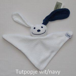 tutpopje wit/navy