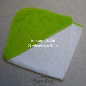 Babiezz badcape wit/lime