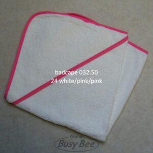 Babiezz badcape wit/pink