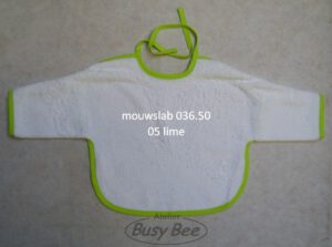 mouwslab wit/lime