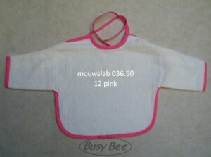 mouwslab wit/pink
